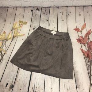 Wilfred Free Nescher Faux Suede Mini Skirt